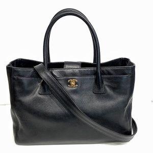 Chanel Black Caviar Leather Cerf Executive Tote